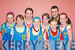 TOOK PART: Kilmurray NS who played against Currow NS in the National Schools Girls Senior A Final at the St Mary's basketball blitz in Castleisland Community Centre on Sunday were front l-r: Katie Sugrue, Alison McGaley and Sheila Griffin. Back l-r: Martha Roche, Selina McCarthy, Christina McAulliffe, John Brosnan and Meeghan O'Connell.   Copyright Kerry's Eye 2008