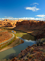 Colorado river from the Moab rim.