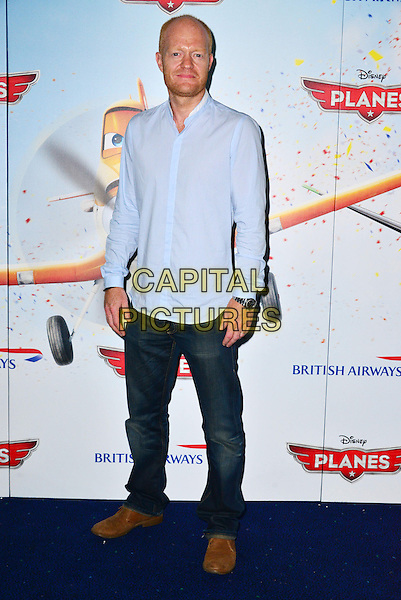 Jake Wood<br /> The &quot;Planes 3D&quot; VIP film screening, Odeon Leicester Square, Leicester Square, London, England.<br /> July 14th, 2013<br /> full length blue shirt jeans denim<br /> CAP/BF<br /> &copy;Bob Fidgeon/Capital Pictures