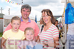 MARKET: Shopping at the French Market at Castlegregory in conjunction with the Summer Festival  on Sunday morning were the O'Connor Family from Tralee, l-r: Martina, Sean, Blathnaid and Katie O'Connor.. .