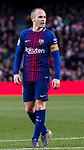 Andres Iniesta Lujan of FC Barcelona reacts during the La Liga 2017-18 match between FC Barcelona and Getafe FC at Camp Nou on 11 February 2018 in Barcelona, Spain. Photo by Vicens Gimenez / Power Sport Images
