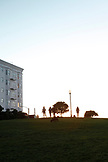 USA, California, San Francisco, NOPA, Alamo Park at the end of the day