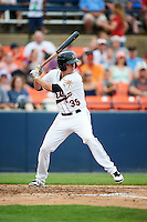 Frederick Keys first baseman Cameron Kneeland (39) at bat during a game against the Carolina Mudcats on June 4, 2016 at Nymeo Field at Harry Grove Stadium in Frederick, Maryland.  Frederick defeated Carolina 5-4 in eleven innings.  (Mike Janes/Four Seam Images)