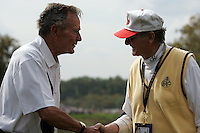 Michael Smurfit meets George Bush at the Friday fourballs at the 37th Ryder Cup at Valhalla Golf Club, Louisville, Kentucky, USA - 19th September 2008 (Photo by Manus O'Reilly/GOLFFILE)
