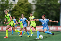 Seattle, WA - Sunday, May 22, 2016: Chicago Red Stars midfielder Danielle Colaprico (24) during a regular season National Women's Soccer League (NWSL) match at Memorial Stadium. Chicago Red Stars won 2-1.