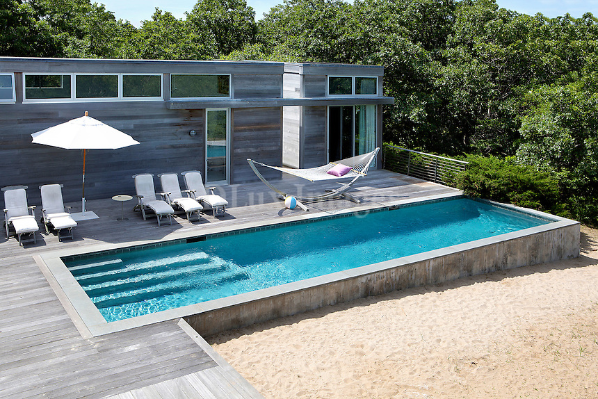 luxury pool area in the garden