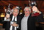 TEXEL - De Cocksdorp - Winnaars Pieter Landman en Henri vd Steen..   Golfbaan De Texelse. COPYRIGHT KOEN SUYK