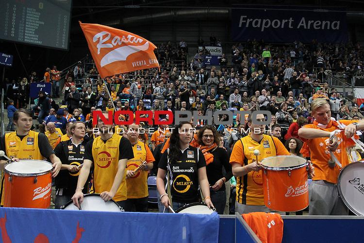 06.12.2013, FraPort Arena, Frankfurt, GER, BBL, Fraport Skyliners vs Rasta Vechta, im Bild<br /> Fans Rasta Vechta<br /> <br /> Foto &copy; nordphoto / Mueller