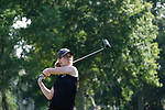HOUSTON, TX - MAY 12: Meaghan Kenny of New York University tees off during the Division III Women's Golf Championship held at Bay Oaks Country Club on May 12, 2017 in Houston, Texas. (Photo by Rudy Gonzalez/NCAA Photos/NCAA Photos via Getty Images)