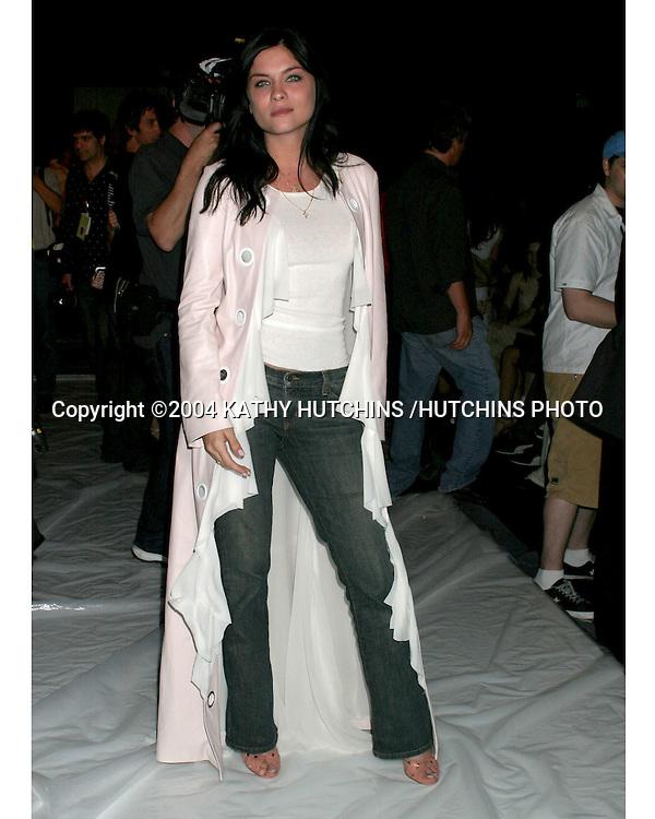 "©2004 KATHY HUTCHINS /HUTCHINS PHOTO.MERCEDES BENZ FASHION WEEK.LOS ANGELES, CA.""JENNI KAYNE"" SHOW.MARCH 30, 2004 ..JODI LYN OKEEFE"