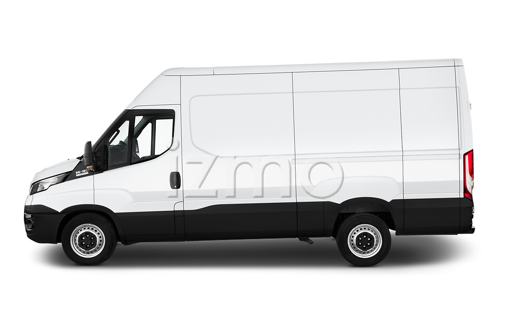 Car Driver side profile view of a 2018 Iveco Daily S 4 Door Cargo Van Side View