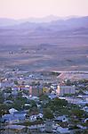 DowntownTonopah, Nev., at sundown from Mt. Mizpah.