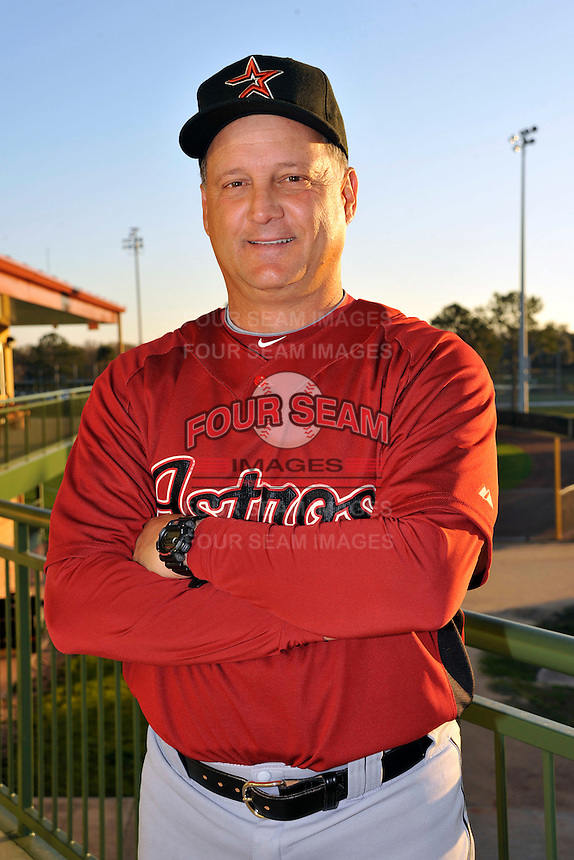 Feb 25, 2010; Kissimmee, FL, USA; The Houston Astros coach Al Pedrique (13) during photoday at Osceola County Stadium. Mandatory Credit: Tomasso De Rosa / Four Seam Images