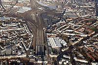 Mitte Altona: EUROPA, DEUTSCHLAND, HAMBURG, (EUROPE, GERMANY), 31.12.2013: Noerdlich des Bahnhof Hamburg-Altona erstreckt sich ein circa 30 Hektar grosses Gelaende  zum Teil Brachflaeche, ehemaliger Gueterbahnhof und Lagerflaeche der Holstenbrauerei  dass durch mehrere Gleise des Fernverkehrs und der Hamburger S-Bahn durchschnitten wird.<br /> Seit Jahren gibt es Ueberlegungen und Planungen, dieses Gelaende einer neuen Nutzung zu ueberfuehren. Grundlage f&uuml;r diese Planspiele ist die Verlegung des Fernbahnhofs Altona in einen Bereich noerdlich dieses Gebiets, vermutlich auf der Hoehe der S-Bahn-Station Diebsteich. Damit wuerde ein guter Teil der Gleis- und Bahnbetriebsflaechen frei werden und eine geschlossene Flaeche entstehen, die neu geplant und bebaut werden koennte.