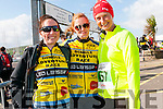 Aoife Smith and Sarah Seery (from Killarney) with Heather Coombs (from Kenmare) at the Dingle Adventure Race on Saturday morning.
