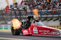 Mar 17, 2019; Gainesville, FL, USA; NHRA top fuel driver Doug Kalitta during the Gatornationals at Gainesville Raceway. Mandatory Credit: Mark J. Rebilas-USA TODAY Sports