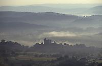 Europe/France/Aquitaine/24/Dordogne/Vallée de la Dordogne/Périgord/Périgord noir/Vitrac: Le chateau de Montfort Vue aérienne