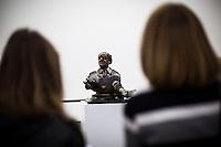 """Berlin, Kunstwerk von Floriano Bodini, """"Bildnis eines Industriellen, 1973""""  beim Ausstellung """"Body Pressure, Skulptur seit den 1960er Jahren"""" am Freitag (24.05.13) in Nationalgalerie Hamburger Bahnhof, Museum für Gegenwart, Berlin."""
