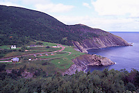 Rugged Coastline and Campground at Meat Cove, Cape Breton Island, Nova Scotia, NS, Canada - Gulf of St. Lawrence / Atlantic Ocean