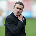 East Fife manager Gary Naysmith at the end of the game.