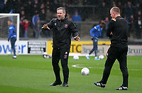 Blackpool caretaker manager David Dunn gives instructions during the pre-match warm-up <br /> <br /> Photographer Ian Cook/CameraSport<br /> <br /> The EFL Sky Bet League One - Bristol Rovers v Blackpool - Saturday 15th February 2020 - Memorial Stadium - Bristol<br /> <br /> World Copyright © 2020 CameraSport. All rights reserved. 43 Linden Ave. Countesthorpe. Leicester. England. LE8 5PG - Tel: +44 (0) 116 277 4147 - admin@camerasport.com - www.camerasport.com