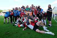 The Woking team celebrate promotion during Woking vs Welling United, Vanarama National League South Promotion Play-Off Final Football at The Laithwaite Community Stadium on 12th May 2019