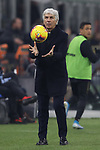 Gian Piero Gasperini Head coach of Atalanta catches the matchball  during the Serie A match at Giuseppe Meazza, Milan. Picture date: 11th January 2020. Picture credit should read: Jonathan Moscrop/Sportimage