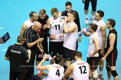 Canada team group (CAN),<br /> MAY 29, 2016 - Volleyball :<br /> Men's Volleyball World Final Qualification for the Rio de Janeiro Olympics 2016<br /> match between Canada 2-3 Iran<br /> at Tokyo Metropolitan Gymnasium, Tokyo, Japan.<br /> (Photo by Shingo Ito/AFLO SPORT)