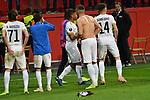 08.11.2018, BayArena, Leverkusen, Europaleque, Vorrunde, GER, UEFA EL, Bayer 04 Leverkusen (GER) vs. FC Zuerich (SUI),<br />  <br /> DFL regulations prohibit any use of photographs as image sequences and/or quasi-video<br /> <br /> im Bild / picture shows: <br /> die Zuericher verabschieden sich von den mitgereisten Fans<br /> <br /> Foto &copy; nordphoto / Meuter<br /> <br /> <br /> <br /> Foto &copy; nordphoto / Meuter