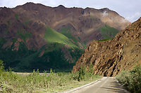Denali park road near the Toklat river, Denali National Park, Interior, Alaska.