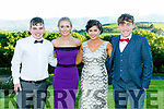 Enjoying the Killarney Schools Debs at Ballyroe Heights Hotel on Monday were l-r  Darragh Moynihan, Christine Cooper, Saoirse O'Connor and Peter McCarthy