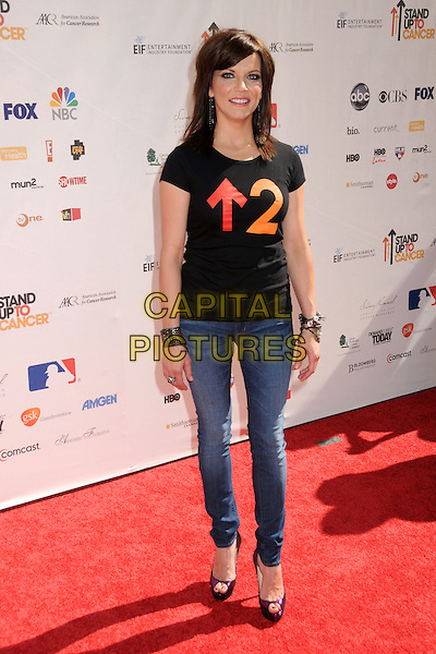 MARTINA McBRIDE.Stand Up To Cancer held at Sony Pictures Studios, Culver City, California, USA, 10th September 2010..full length purple pink peep toe shoes platform  black jeans t-shirt .CAP/ADM/BP.©Byron Purvis/AdMedia/Capital Pictures.
