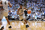 CHAPEL HILL, NC - DECEMBER 30: Wake Forest's Bryant Crawford. The University of North Carolina Tar Heels hosted the Wake Forest University Demon Deacons on December 30, 2017 at Dean E. Smith Center in Chapel Hill, NC in a Division I men's college basketball game. UNC won the game 73-69.