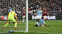 West Ham United's Lucas Perez with a shot at goal<br /> <br /> Photographer Rob Newell/CameraSport<br /> <br /> The Premier League - West Ham United v Huddersfield Town - Saturday 16th March 2019 - London Stadium - London<br /> <br /> World Copyright © 2019 CameraSport. All rights reserved. 43 Linden Ave. Countesthorpe. Leicester. England. LE8 5PG - Tel: +44 (0) 116 277 4147 - admin@camerasport.com - www.camerasport.com