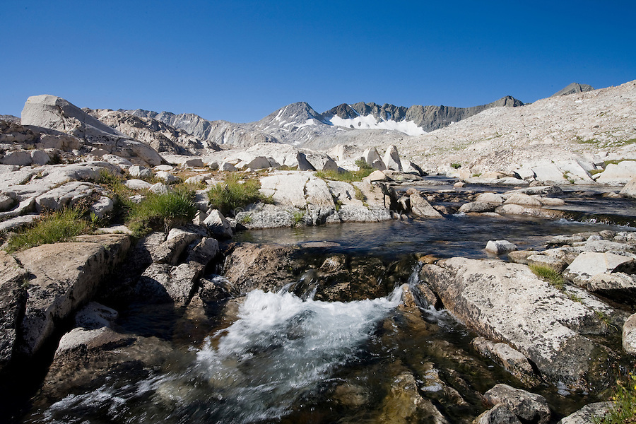 A stream along the John Muir Trail, Sierra Nevada CA