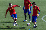 Spainsh Lucas Vazquez and David Silva during the training of the spanish national football team in the city of football of Las Rozas in Madrid, Spain. November 09, 2016. (ALTERPHOTOS/Rodrigo Jimenez)