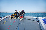 Onboard the Diam 24 Banque Populaire with Armel Le Cl&eacute;ac'h, Ronan Lucas, Fabien Delahaye. The Diam 24 is the new boat for the Tour de France &agrave; la Voile 2015.<br /> Diam 24 One Design, light, sporty, powerful, winged and designed to race with three or four people on board. The Diam 24OD is fast in light winds and confident in stronger breeze without the necessity for high level sporting prowess.