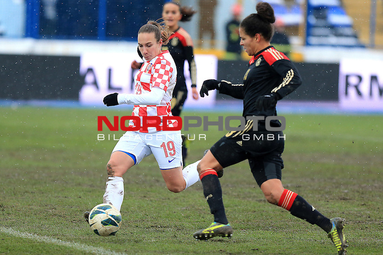 27.11.2013., Gradski vrt stadium, Osijek - Qualifying for the World Cup for women which will be held in Canada 2015th year, Group 1, Croatia - Germany. <br /> Foto &copy;  nph / PIXSELL / Davor Javorovic