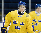 Oscar Fantenberg (Sweden - 2) - The Merrimack College Warriors defeated the visiting Sweden Under 20 team 4-1 on Tuesday, November 2, 2010, at Lawler Arena in North Andover, Massachusetts.