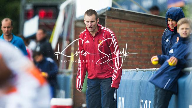 BREDA (Neth.)  coach Jon Bleby from England . Match England vs India (3-0) for the 3rd place of te Volvo Invitational Tournament 6 Nations U23 boys. COPYRIGHT KOEN SUYK