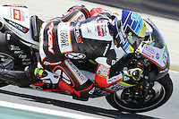 15.06.2013 Barcelona, Spain. Aperol  Catalonia Grand Prix. Picture show Xavier Simeon ridding Kalex during Moto2 qualifyng at Circuit de Catalunya