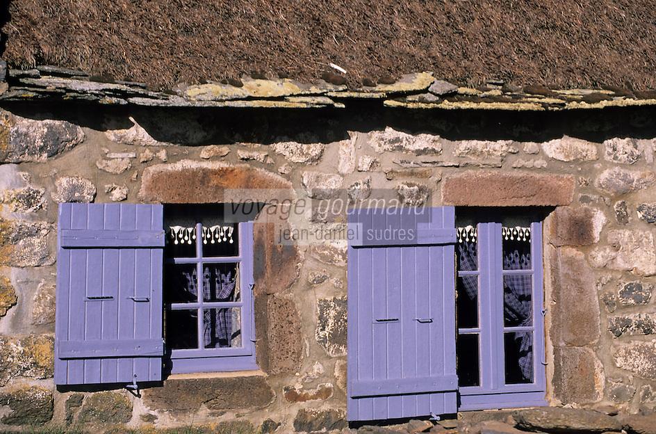 Europe/France/Auvergne/43/Haute-Loire/Moudeyres: Détail chaumière