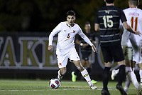 WINSTON-SALEM, NC - NOVEMBER 24: David Kovacic #6 of the University of Maryland plays the ball during a game between Maryland and Wake Forest at W. Dennie Spry Stadium on November 24, 2019 in Winston-Salem, North Carolina.
