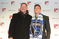Philadelphia, PA - Thursday January 19, 2018: Rich Ryerson, Danny Musovski  during the 2018 MLS SuperDraft at the Pennsylvania Convention Center.