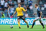 Stockholm 2014-07-07 Fotboll Allsvenskan Djurg&aring;rdens IF - IF Elfsborg :  <br /> Elfsborgs Henning Hauger i kamp om bollen med Djurg&aring;rdens Alexander Faltsetas <br /> (Foto: Kenta J&ouml;nsson) Nyckelord:  Djurg&aring;rden DIF Tele2 Arena Elfsborg IFE
