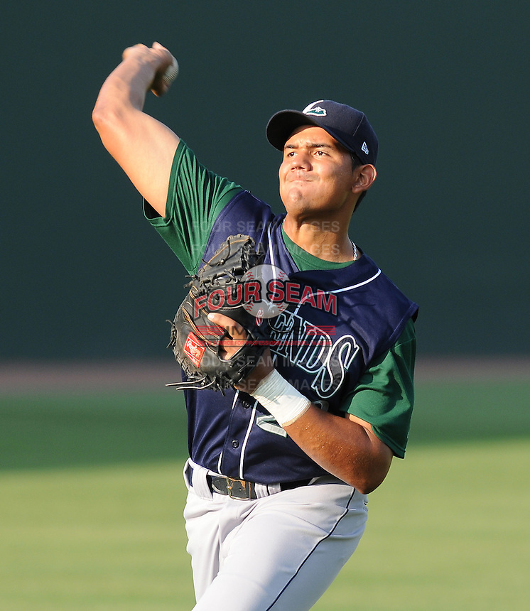June 19, 2009: Catcher Reinaldo Pestana (23) of the Lexington Legends, Class A affiliate of the Houston Astros, in a game against the Greenville Drive at Fluor Field at the West End in Greenville, S.C. Photo by: Tom Priddy/Four Seam Images