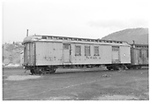 X66 baggage-mail-tool car.  3/4 view.<br /> D&amp;RGW  Durango, CO