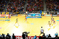 A general view of the ANZ Netball Championship match between Central Pulse and Northern Mystics at Te Rauparaha Arena, Porirua, New Zealand on Monday, 1 April 2013. Photo: Dave Lintott / lintottphoto.co.nz