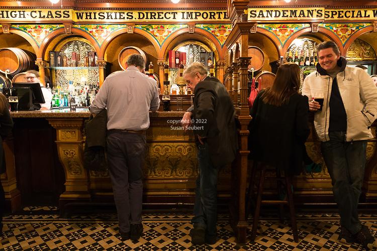 The historic Crown Liquor Saloon in Belfast, Northern Ireland