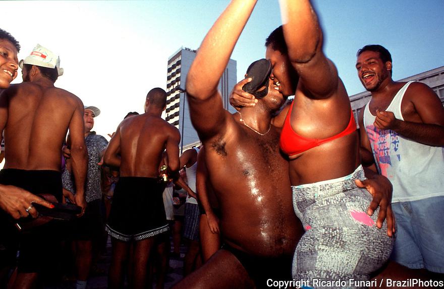 Banda de Ipanema ( Ipanema Band ) - Steert carnival in Rio de Janeiro, Brazil - black couple in love, Rio de Janeiro lifestyle.